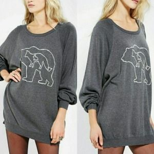 Urban Outfitters Cooperative Bear Animals Sweater